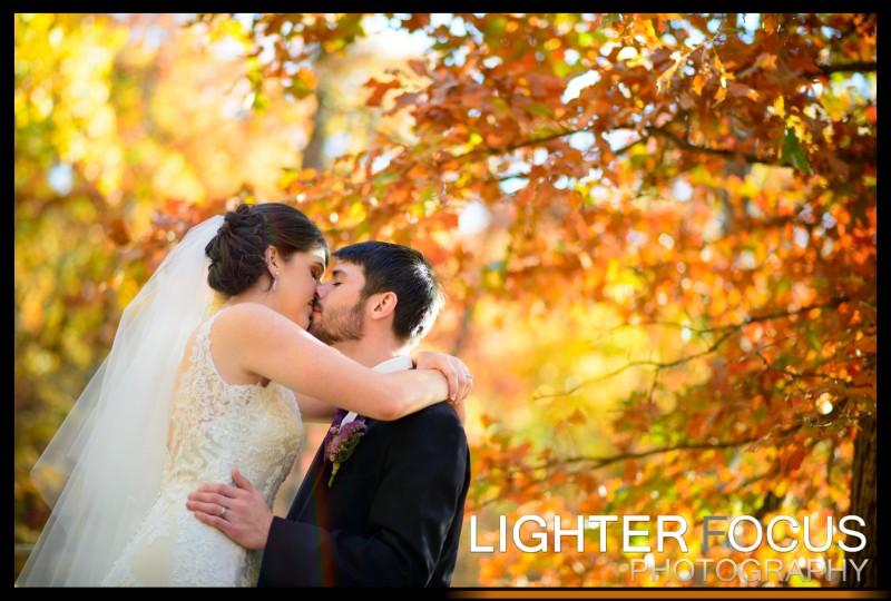 Fall wedding in Ozarks