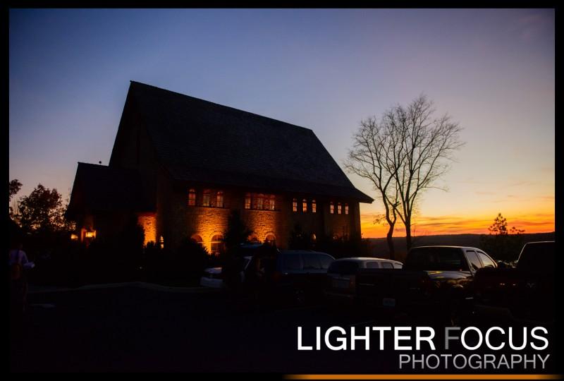 Integrity Hills Chapel at sunset